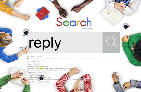 reply: Reply Response Feedback Communication Faq Concept