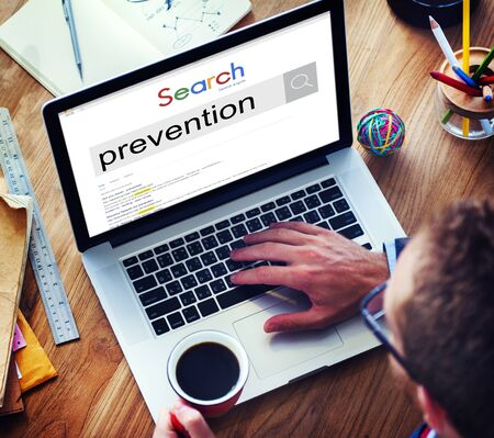symptoms: Prevention Preventing Prevent Stopping Symptoms Concept