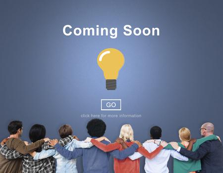Binnenkort Opening Promotion Aankondiging Concept