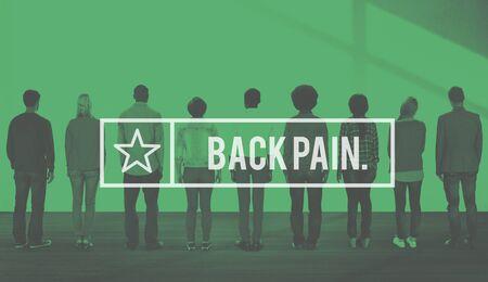 medula espinal: Backpain la médula espinal de la columna vertebral osteopatía Concept