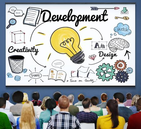 innovation growth: Development Improvement Vision Innovation Growth Concept Stock Photo