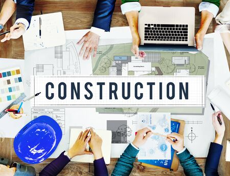 building site: Construction Industry Building Architecture Infrastructure Concept