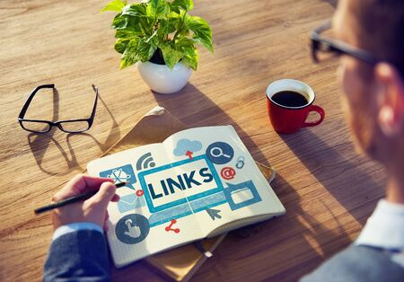 Link Network Hyperlink Internet Backlinks Online Concept Stock Photo