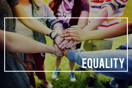 equal to: Equality Rights Equal Justice Reliability Concept