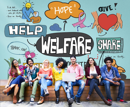 Welfare Support Benefit Payment Retirement Concept Stock Photo