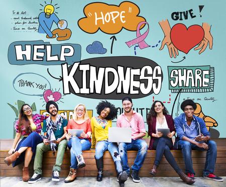 kindness: Kindness Kindly Optimistic Positive Giving Concept