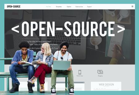 Open Source Developer Program Software Gebruiker Concept