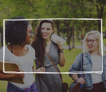 friendship women: Girls Friendship Women Friends Students Concept