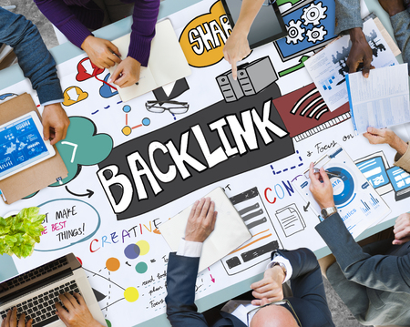 Business planning with backlink concept Stock Photo