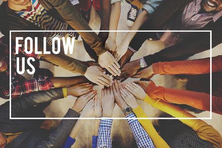 우리를 따르라 Share Follower 우리와 함께하십시오 개념