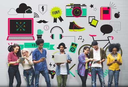 Jugend Social Media Technologie Lifestyle-Konzept