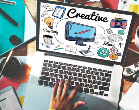 laptop outside: Creative Ideas Design Imagination Inspiration Style Concept