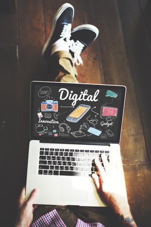 メディア コンセプトを共有デジタル ガジェット イノベーション
