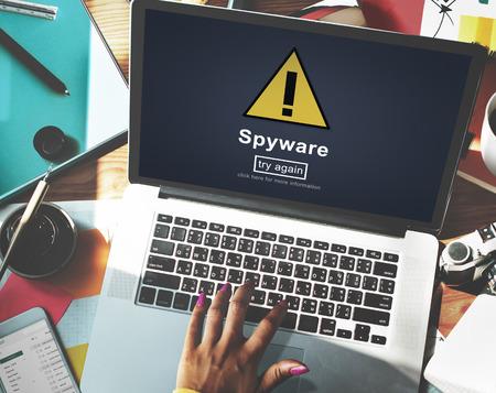 phishing: Spyware Computer Hacker Spam Phishing Malware Concept Stock Photo