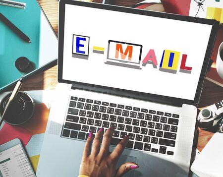 correspondence: Email Correspondence Communication Word Style Concept Stock Photo