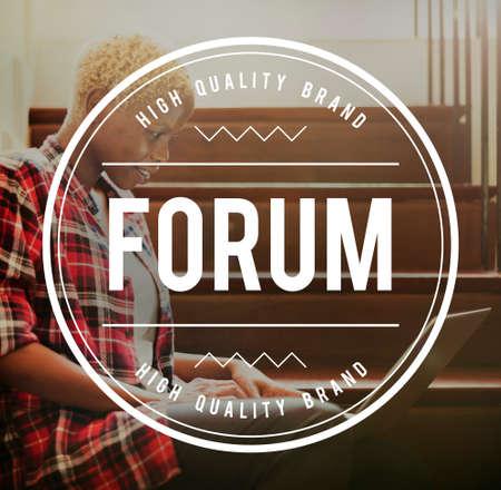 discussion forum: Forum Discussion Communication Information Concept