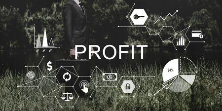 attache case: Profit Benefit Revenue Earnings Gain Gross Income Concept