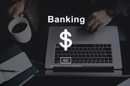 banking concept: Banking Money Cash Online Website Internet Concept