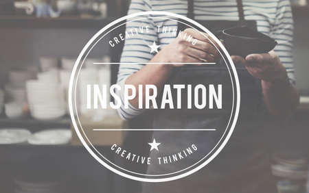 curator: Inspire Inspiring Inspiration Motivate Innovate Concept Stock Photo