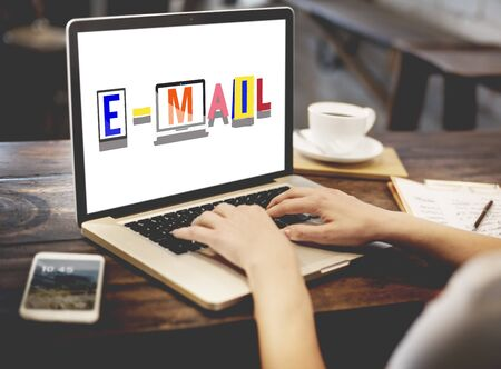 correspondence: Email Correspondence Communication Word Style Concept Stock Photo