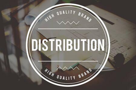 Distribución distribuir distribuyendo Distribuidor Concept