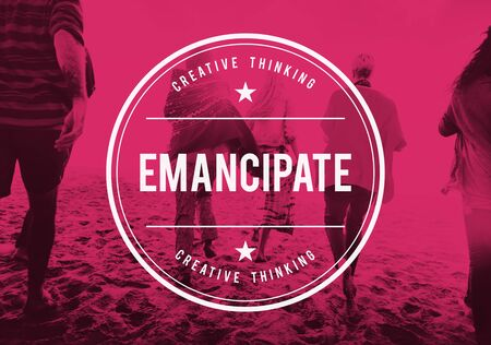 slavery: Emancipate Free Freedom Release Slavery Society Concept Stock Photo