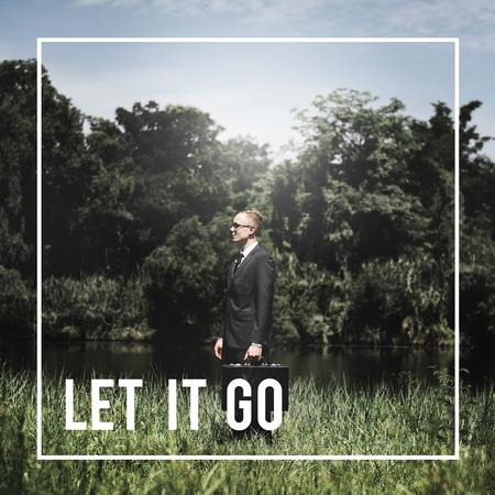 let go: Let it go Attitude Feeling Emotional Past Concept Stock Photo