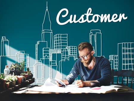 urban planning: Customer Consumer Business Marketing City Concept