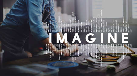 Imagine Imagination Vision Creative Dream Ideas Concept Stock Photo