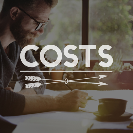 Cost concept with background Stock fotó - 109217788