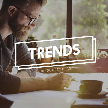 trending: Trends Trending Trendy Style Fashion Design Concept Stock Photo