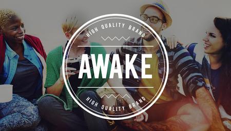 energetic: Awake Alert Energetic Sleeping Disorder Concept