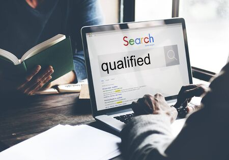 qualify: Qualified Qualify Qualification Diploma Capacity Concept