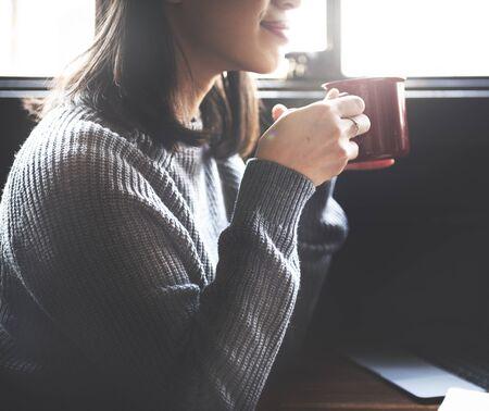 Break Time Cafe Coffee Freizeit Entspannung Teekonzept