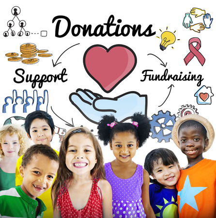 fundraising: Donation Share Support Fundraising Help Concept