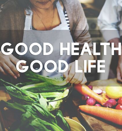 the good life: Good Health Good Life Lifestyle Nutrition Exercise Concept