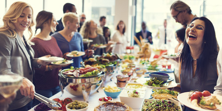 dessert buffet: Food Buffet Catering Dining Eating Party Sharing Concept Stock Photo