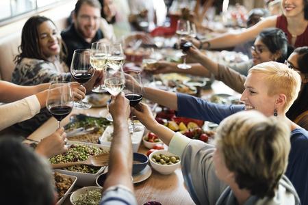 Brunch Scelta Folla pasti mangiare cibo Concetto