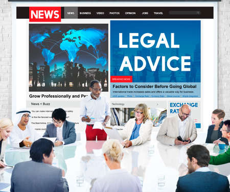 ethics: Legal Advice Headline News Feed Concept Stock Photo