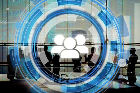 round collar: Digital Blue Hud Interface Team Concept