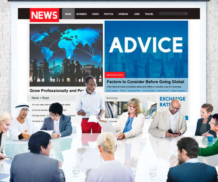suggestion: Advice Consultant Suggestion Support Advisor Concept Stock Photo