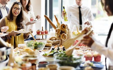 Buffet Dinner Gastronomie Essen Feier-Party-Konzept