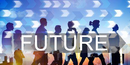 Future Imagine Development Forecast Time Concept