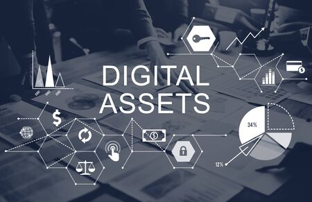 Digital Assets Business Management System Concept Stock Photo