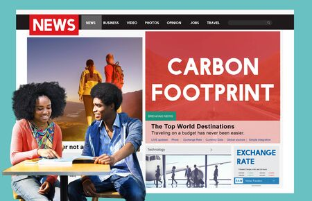 adult footprint: Carbon Footprint Environmental Conservation Concept