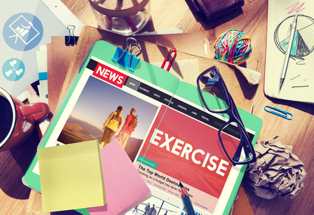 medium body: Exercise Fitness Healthy Lifestyle Practice Wellbeing Concept Stock Photo
