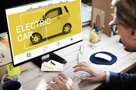 Electric Car Ecologie Technology Save Energy Concept