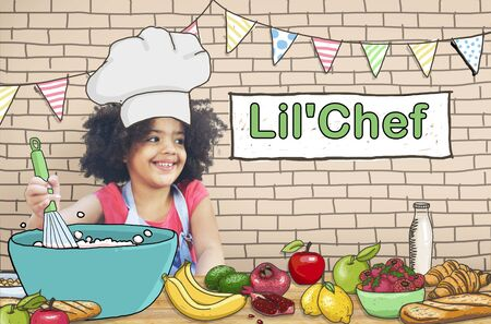 little chef: Lil Chef Cooking Kid Child Culinary Food Concept