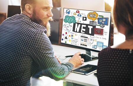 internet connection: Net Worth Internet Network Computer Connection Concept