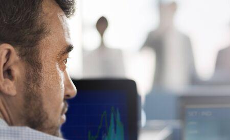 Businessman Broker Working Stock Market Concept